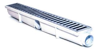 Ralo Linear 6x50 Em Alumínio Com Caixa Coletora Branca