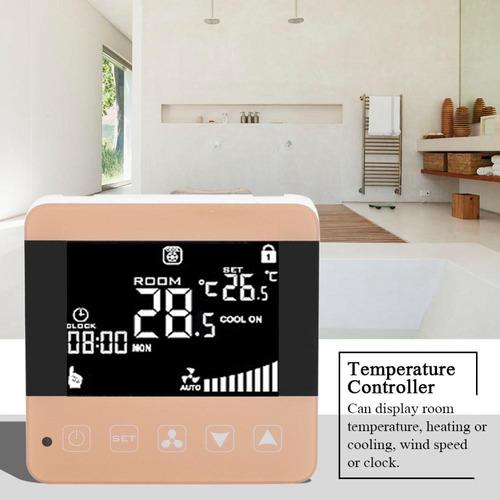 Termostato Digital Lcd Suelo Calefacción De Pared Temperatu