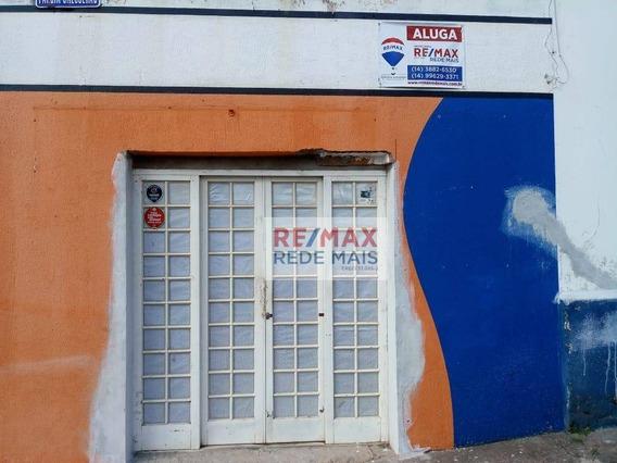 Ponto Comercial Para Alugar, 35 M² Por R$ 550/mês - Vila Maria - Botucatu/sp - Pt0028