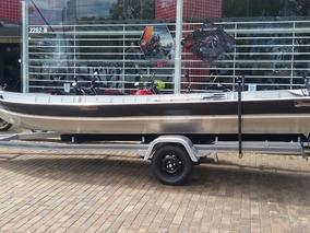 Barco 6 Mts - Motor 15 Yamaha - Carreta Volpato 6 Mts Novo
