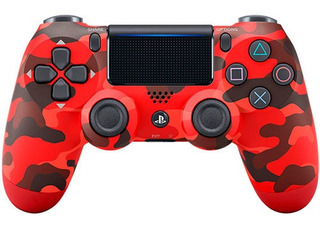 Control Dualshock 4 Red Camo Ps4 Sony