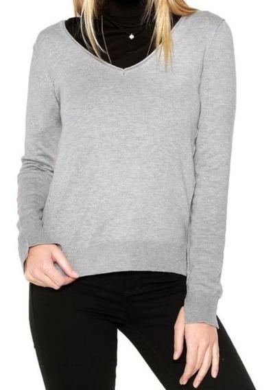 Suéter Feminina Tricot Calvin Klein Cinza - Nova E Original