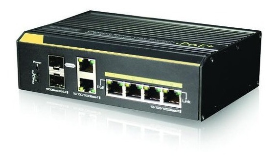 Switch Cctv 4 Puertos Ethernet Hi-poe Cygnus (cy-s2004-240)
