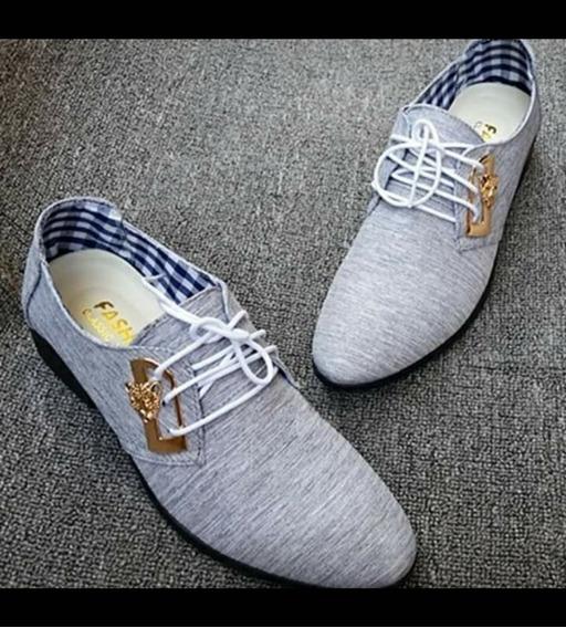 Zapatos Vestir Gris *41