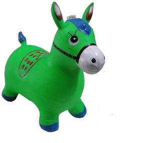 Cavalinho Brinquedo Upa Inflável Com Luses E Som De Cavalo