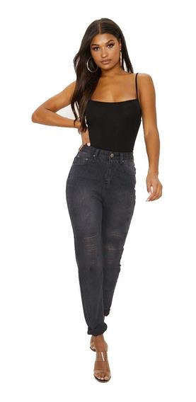 Calça Jeans Feminina Cintura Alta C/ Lycra Hot Pants Flare Levanta Bumbum