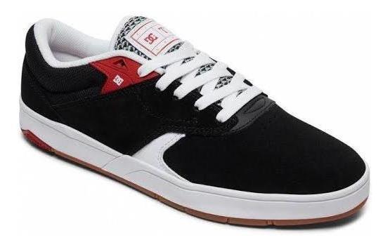 Tênis Dc Shoes Tiago S Imp Black White Red Frete Grátis