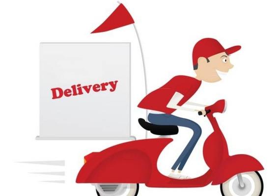 Programa Delivery Pizzerías Y Casas De Comidas Sushi Stock