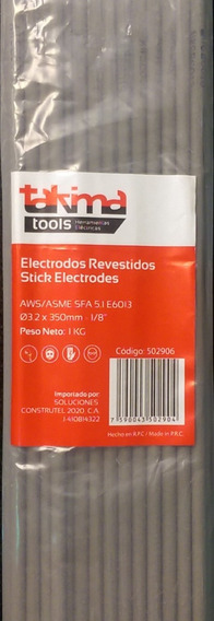 Electrodo 6013 3/32 2.5mmx350mm Takima (5 Kilos) (mayor)