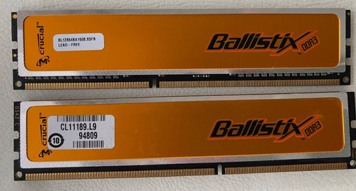 Memoria Ram Crucial Ballistix  Ddr3 1600mhz