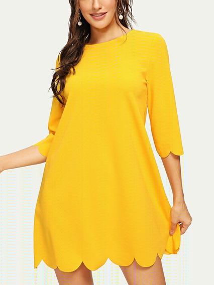 Vestido Amarillo Casual Dama