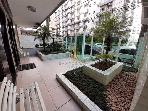 Apartamento Com 1 Dorm, José Menino, Santos - V135