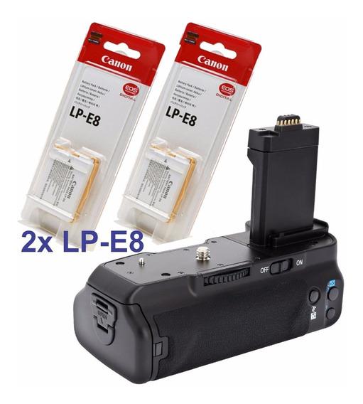 Grip Bateria Canon 550d Rebel T5i T4i T3i T2i Com 2 Baterias