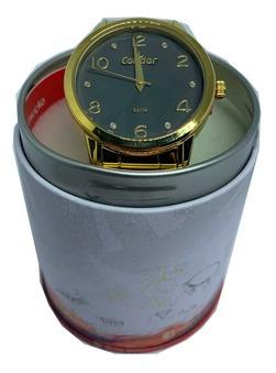 Relógio Feminino Condor Analógico Dourado Tendencia