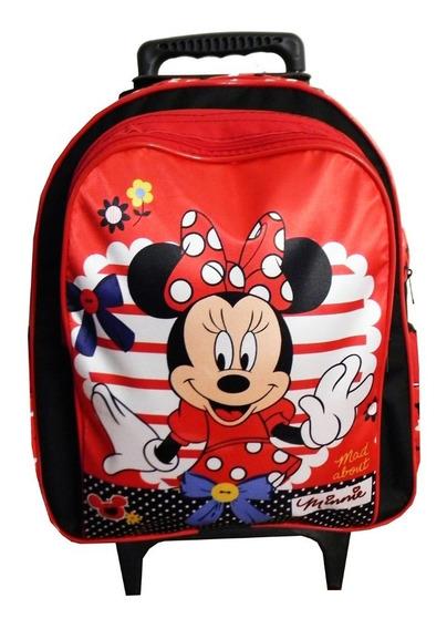 Mochila Infantil Feminina Minnie Vermelha Escolar Minney