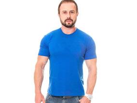 Camiseta Básica Pp Ao G3 Gola Masculina Uniforme Algodão