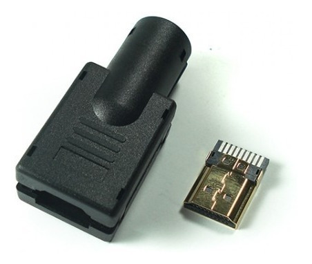 Conector Hdmi Macho Gold Solda Placa Capa Plastica Kit C/ 3