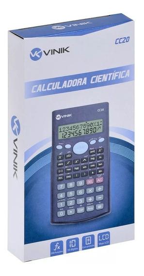 Calculadora Científica 47 Teclas Preta Cc20 Vinik