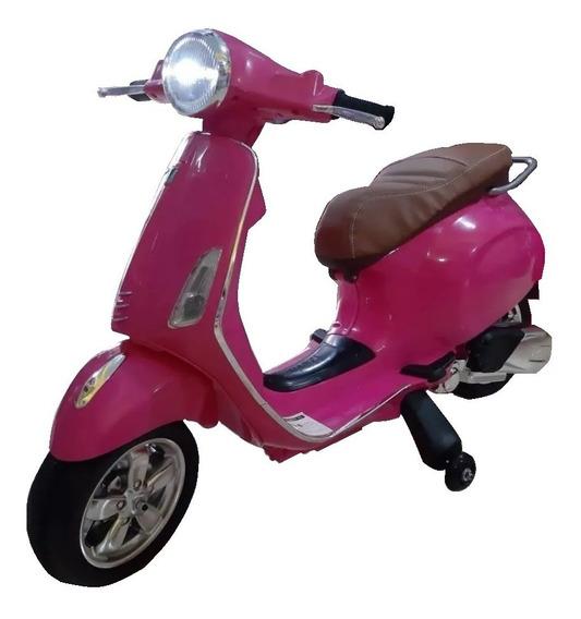 Moto A Bateria Vespa Zaki 12v Luces Sonidos Babymovil Full
