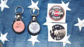 Kit Adesivo Escudo De Guitarra E Chaveiro Fender