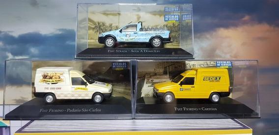 Miniaturas Fiat Fiorino E Fiat Strada Lote Com 3 Escala 1/43
