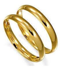 Par De Alianças Para Noivado E Casamento, Toda Em Ouro 18k.