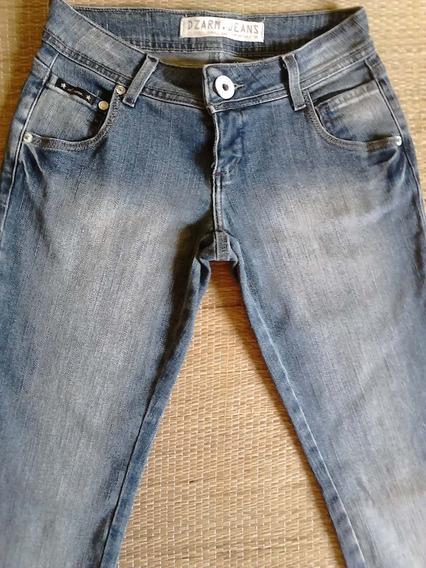 Calça Jeans Feminina Skinny 34 Com Lycra Basica Dzarm
