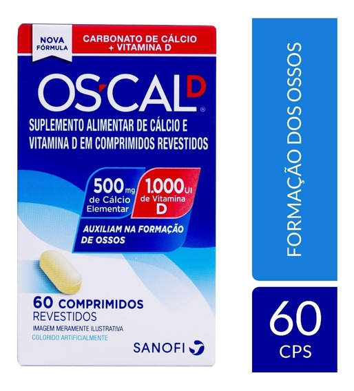 Oscal-d 500mg + 1000 Ui Vitamina D Suplemento Alimentar C/60