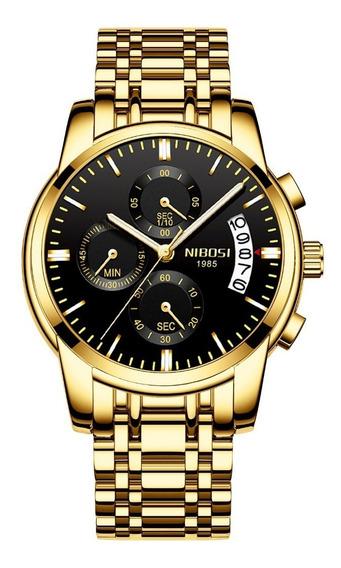 Relógio Nibosi Funcional Original Promoção Pronta Entrega