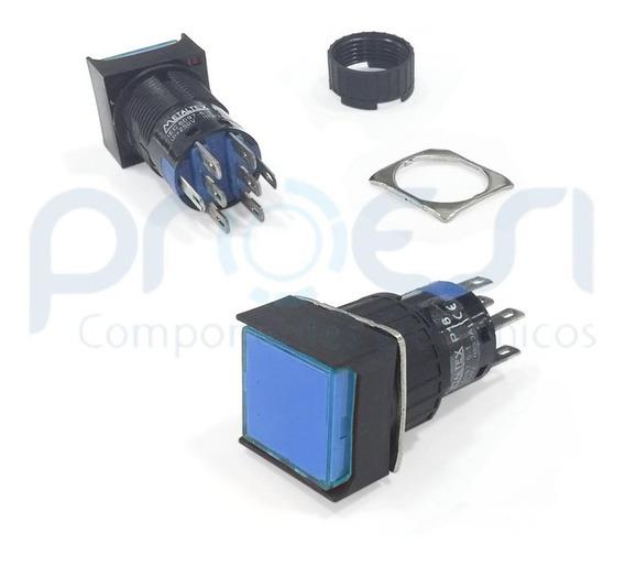 P16-bs7-bl2 (2 Reversível / Dpdt) Botão Pulsante Metaltex 24