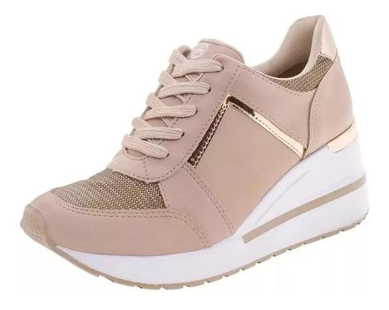 Tênis Feminino Via Marte Sneaker Salto Anabela 193353 Oferta