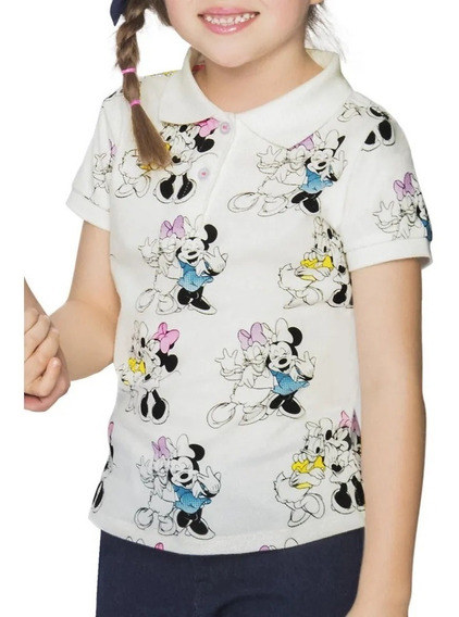 Look Retro Playera Girl Niña Minnie Mouse Tipo Polo 1390896