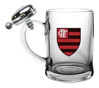 Caneca De Cerveja Com Sineta 380ml - Flamengo