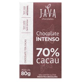 Chocolate 70% Cacau Chocolate Intenso Vegano 80g Java
