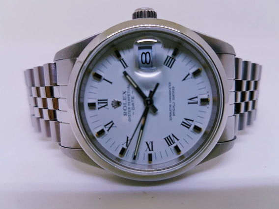 Rolex Date Safira 34 Mm Impecavel