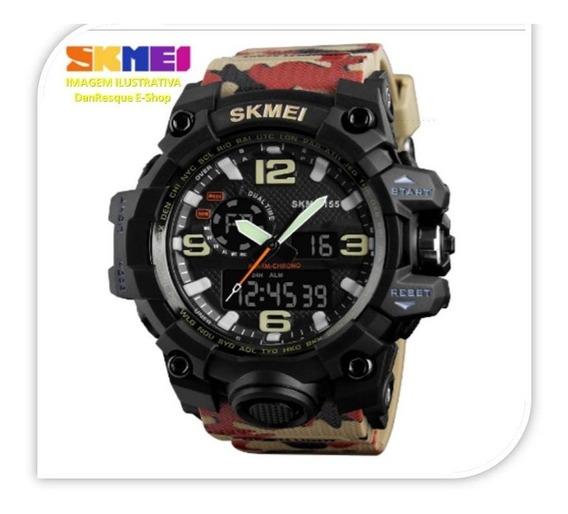 Relógio Militar Camuflado Skmei 1155 S Shock Acompanha Caixa