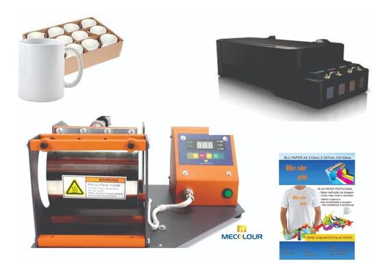 Kit Sublimação Prensa Térmica, Impressora Sublimática