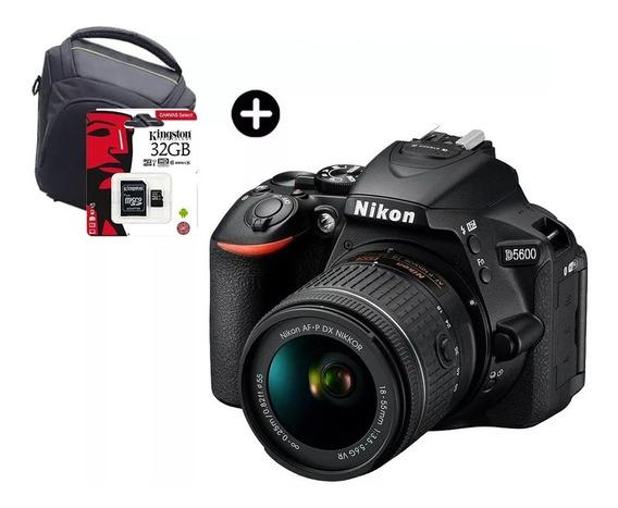 Camara Nikon D5600 Reflex Full Kit Lente 18-55mm + 32gb C10