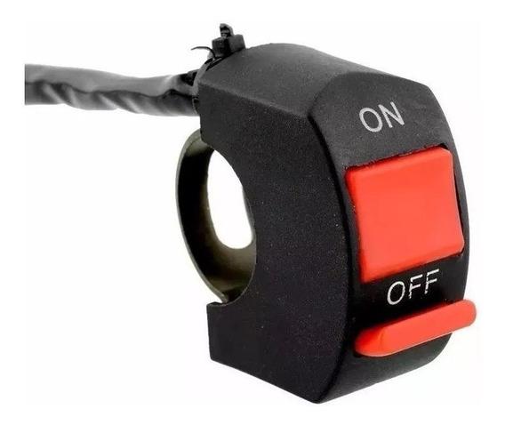 Botão On Off Tomada Interruptor Farol Auxiliar Milha Moto