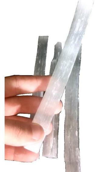 Bastão Bruto Selenita Branca Pedra Natural
