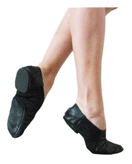 Zapatillas Danza - Tango - Jazz Elastizada - Cuero - Salsa