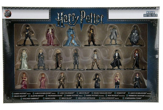 Pack 20 Personagens Harry Potter Nano Metal Figs Jada 30010