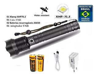 Kit Lanterna Xlamp Xhp70.2 Recarregável 2 Baterias Cabo Usb