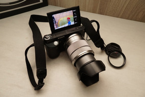 Câmera Fotográfica Sony Nex F3 Com Lente Sel1855