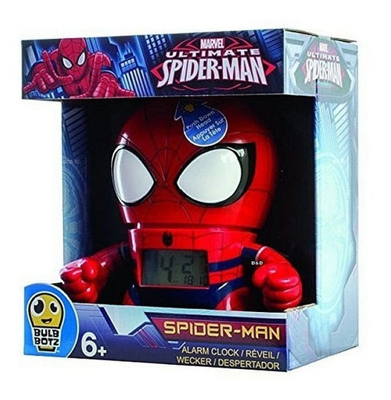 Reloj Despertador Digital Spider Man Marvel Ultimate