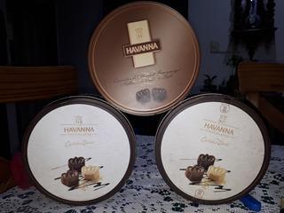 Lote De 3 (tres) Latas Vacias De Bombones Havanna !!!