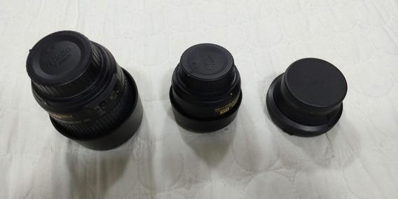 Lentes Nikon (35 Mm / 55-200 Mm / Grande Angular