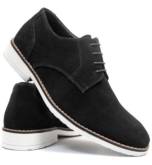 Sapato Casual Social Oxford Salazari Couro Legítimo Camurça