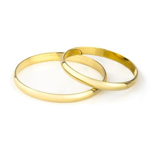 Par De Aliança Em Ouro 0750