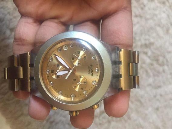 Relógio Swatch Dourado - Original